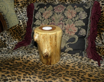 Rustic woodland Cedar Candle holder-Branches Galore Tea Light Cedar Candle Holder-Spalted Wood Candle Holders