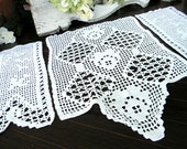 Crochet Armchair Doilies Vintage Sofa Doily Lot - Center Doily Damaged 7352