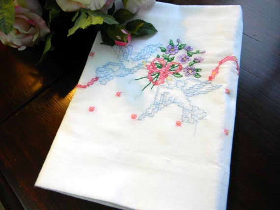 Vintage CottEmbroidered Pillow Case Pillowcase 4021 Black Friday / Cyber Monday