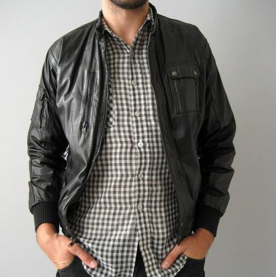 Leather Biker Jacket - 40 / S