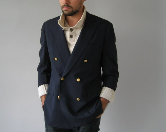 Nautical Blazer Double Breasted Navy Blue
