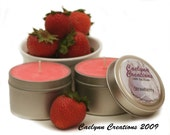 CLEARANCE Three Soy Candles in 4oz Travel Tins - Choose Your Scents - Ready to Ship