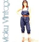 Vintage Denim Jumper 80s Indigo SM/MED