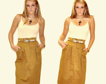 Vintage Khaki Skirt Sz SM MED
