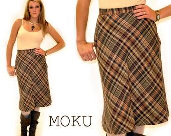 Vintage Plaid Skirt Sz SMALL