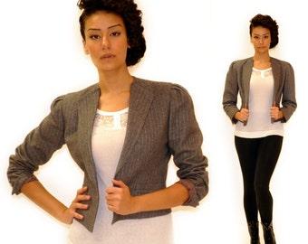Vintage Gray Pinstripe Blazer Sz SM/MED