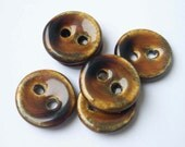 Treacle Toffee  Ceramic Buttons