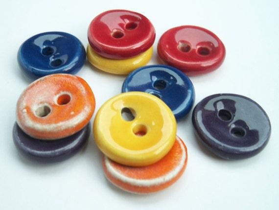 Crayon Fun Colours Ceramic Buttons
