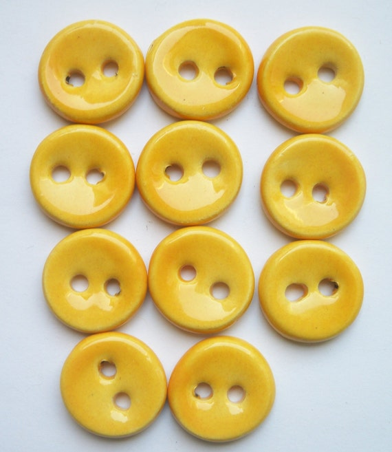 Sunny Yellow Ceramic Buttons