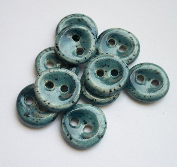 Inbetweenie Gentle Blue Ceramic buttons