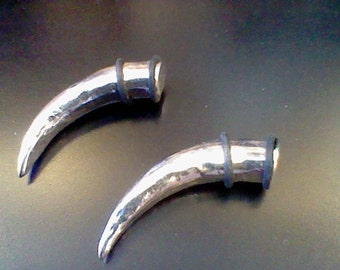 Hand forged stainless steel Claw - 00 gauge High Polish