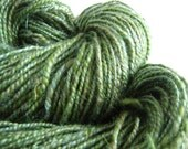 Gaia - 2-ply handspun yarn - corriedale, bamboo - 165 yards- stitchmarkers and card - custom birthday package - RESERVED