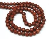 Round Beads, Red Jasper - 5-7 mm - 29'' Graduated STRAND - 110429-03