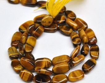 Oval Beads, Golden Tiger Eye Quartz - 10x6 mm - 13''STRAND - 110404-03