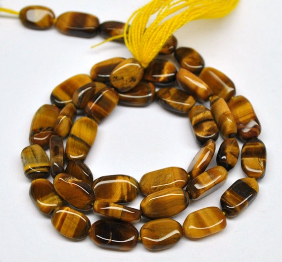 Oval Beads, Golden Tiger Eye Quartz - 10x6 mm - 13''STRAND - 110404-03