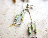 Apple Green Dangle earrings