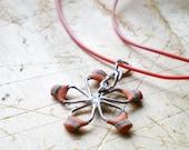 Choker Flower Necklace Little Orange Resistor - Charm Charmaille Pendant Flower