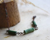 Green Sexy Beach Bronze Chain Anklet with Charm and Resistor