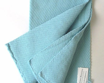 extra-thick towel in  light blue twill