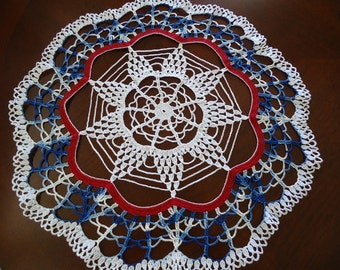 Patriotic Day Crochet Star Beautiful Doily
