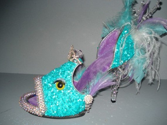 "shoe sculpture - ""Fierce Fish"""