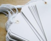 Shipping Tags large size 8 white prestrung tags  50 tags