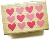 Valentine Hearts Rubber Stamp by Studio G