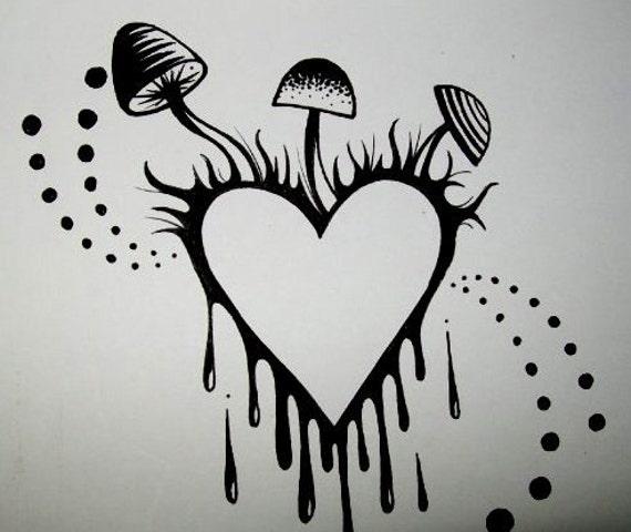 CUSTOM Ink Drawing Original Artwork Tattoo Design RESERVED For