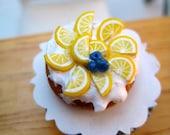 Mini Food Lemon Cream Cake -1/12 scale