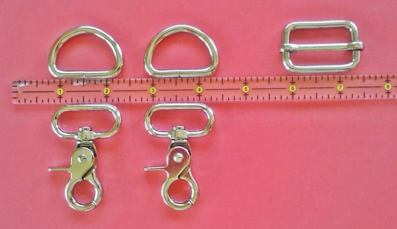 1.25 inch Adjustable Strap Kit Assembly includes 2 each Swivel Clasps - 2 each D-Rings - 1 each Slider