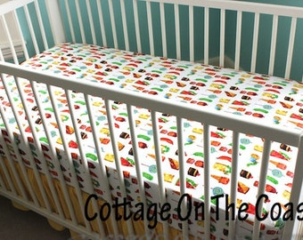Fitted Crib Sheet- Bumperless Crib Sheet- Foodie--MADE TO ORDER