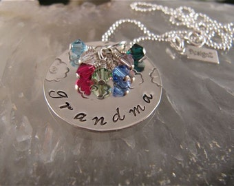 Mom's/Grandmother's Necklace with 7 Birthstones