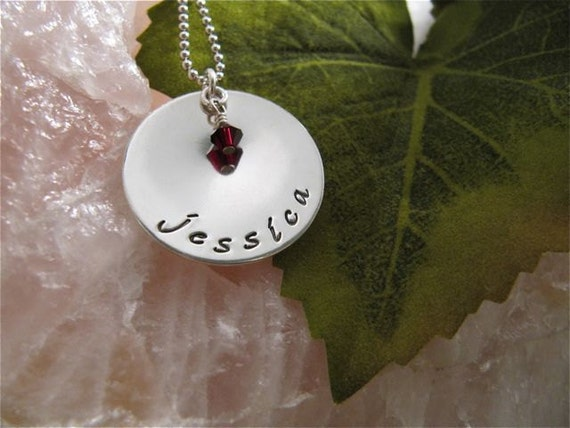 Family 1 Tier Necklace with Birthstone