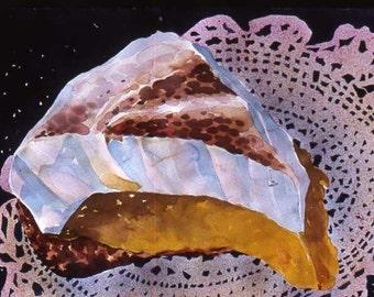 Original watercolor, Lemon Meringue Pie, Try the Pie -- It's Heavenly! 22 x 30