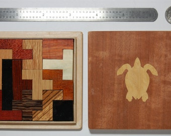 New Handmade Pentominoes Jigsaw Puzzle (13 hardwood pieces) in fitted Tray Puzzle Box --- FREE US SHIPPING