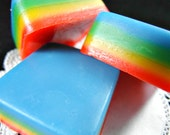 Rainbow Layer - Face Wash Bar - Soap - Cake Scent