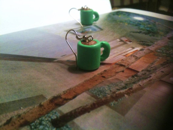 Chartreuse - Cup of Coffee - Earrings