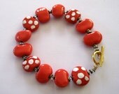 Beaded Bracelet, Kazuri Bangle, Fair Trade, Ceramic Jewelry