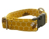 RESERVE LISTING - Bumble Bee Dog Collar - LARGE