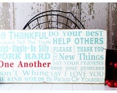 Family Rules Sign - Family Rules Version III - Typography Wall Art in Landscape