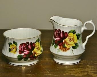 Cream and Sugar Set Royal Windsor Porcelain