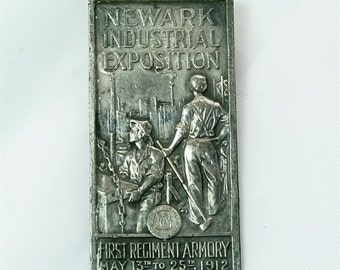 First Regiment Armory 1912 - Industrial Exposition Souvenir Tag