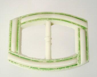 Vintage Belt Buckle Czech Glass ART DECO 1930s