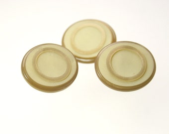 1920s Vintage Buttons - Oval Shape, Unique Texture - Set of 3 - 18mm