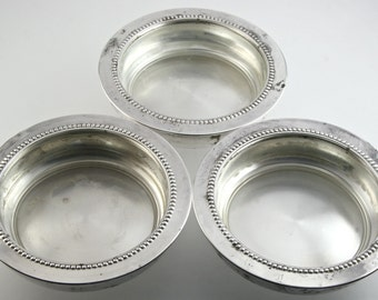 Vintage Silverplate Coasters 1960s Mad Men Chic