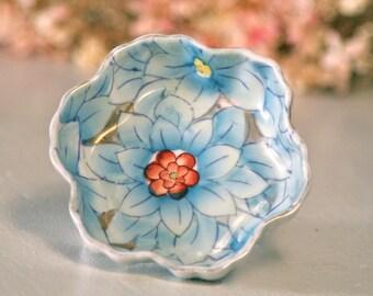 Vintage Occupied Japan Chrysanthemum Bowl