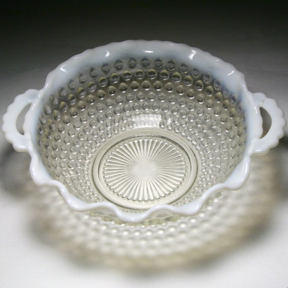 White Glass Bowl - Anchor Hocking Moonstone 7-1/2""