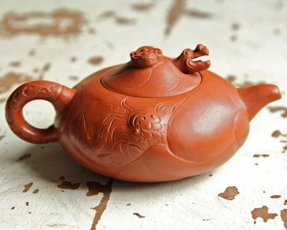 Ceramic Dragon Teapot -  Yixing Teapot