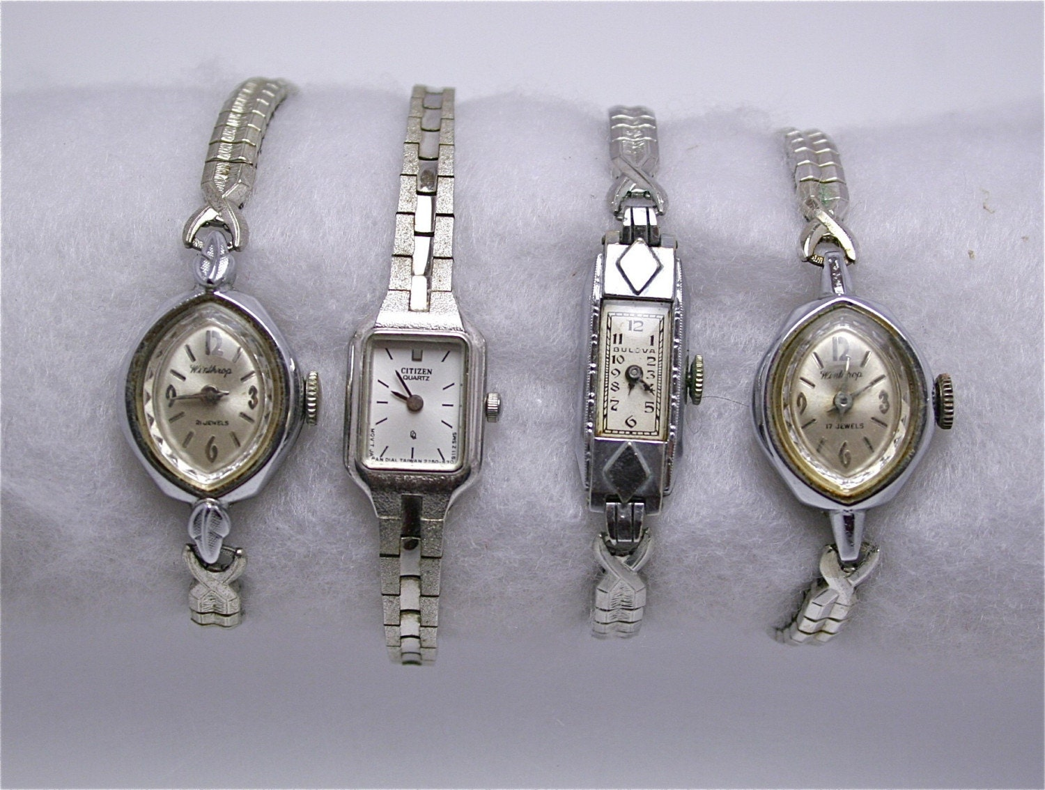 vintage watches bulova winthrop citizen lot of 4