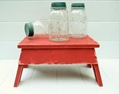 Vintage Style Step Stool No. 2 in Classic Red Handmade by Circle Creek Home